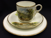 Careworn : Bishop & stonier - Bisto - scenic Victorian tea trio